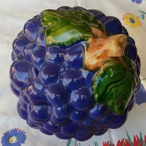 Purple Bunch of Grapes Cookie Jar